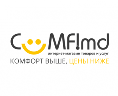 Creation of unique logo for the online store Comfi in Moldova