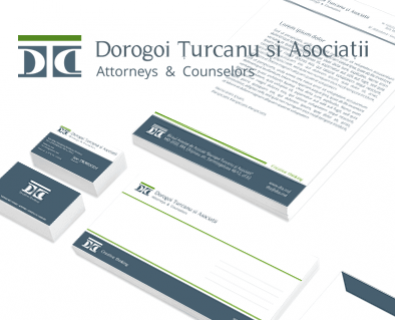 Custom logo design for the law office DTA in Moldova