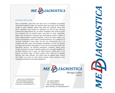 Development of the logo for Medical Diagnostic Center in Moldova