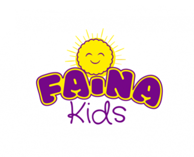 Development of logo design for Faina Kids company from Chisinau, Moldova