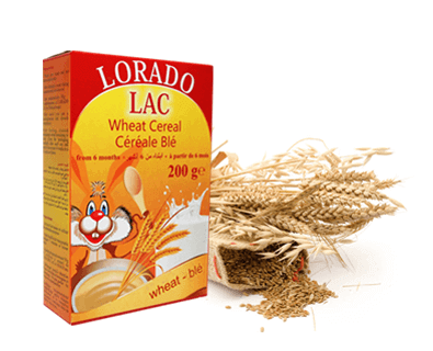 Packaging for porridges for babies Lorado lac cereals