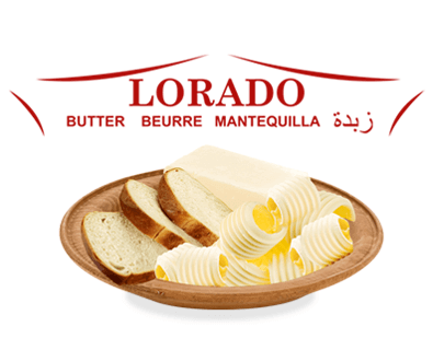 Individual design labels for Lorado butter