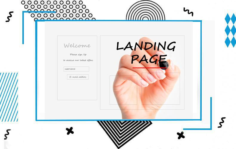 Landing page for the company